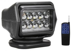 Proiector LED Rotativ cu Telecomanda Wireless 50W, 4000 lumeni, SPOT Beam, Negru