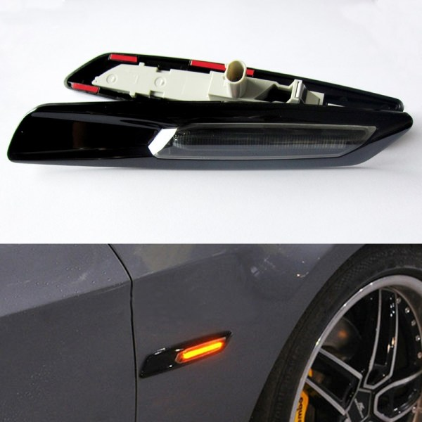 Semnalizari Aripa Led Negre BMW E60, E61, E90, E91, E81, E82, E88 CANBUS OEM