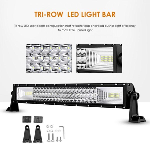 """LED Bar Auto Curbat 459W, leduri pe 3 randuri, 12V-24V, 34020 Lumeni, 31,5""""/80 cm, Combo Beam 12/60 Grade PREMIUM"""