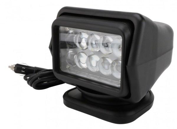 Proiector LED Rotativ cu Telecomanda Wireless 50W, 4000 lumeni, SPOT Beam, Negru PREMIUM