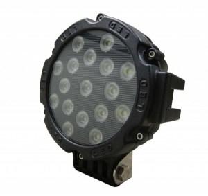 Proiector LED Auto Offroad 51W/12V-24V, 3740 Lumeni, Negru, Spot Beam 30 Grade PREMIUM