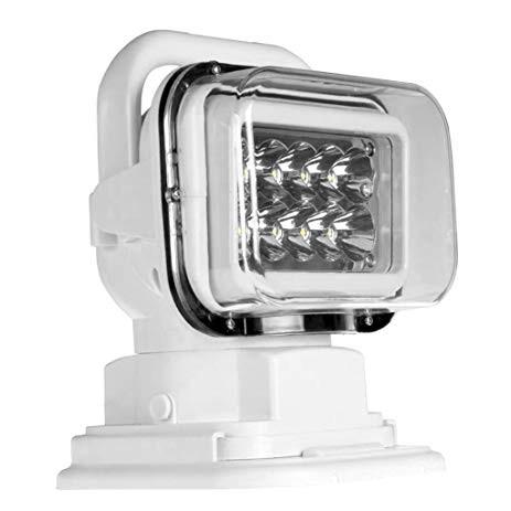 Proiector LED Rotativ cu Telecomanda Wireless 50W, 4000 lumeni, SPOT Beam, Alb PREMIUM