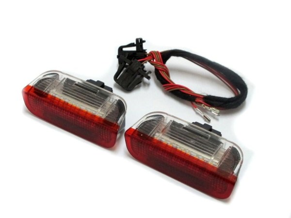 Lampi cu LED Portiera Spate VW, SEAT, SKODA Alb/Rosu PREMIUM