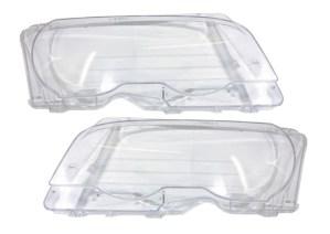 Set 2 sticle faruri pentru BMW Seria 3 E46 Coupe / Cabrio Non Facelift (1998 - 2003) - HB010 OEM