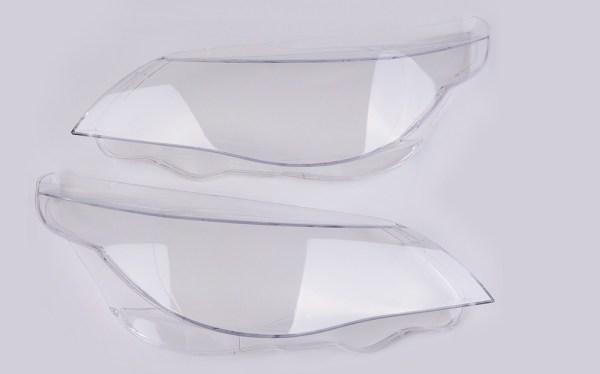 Set 2 sticle faruri pentru BMW Seria 5 E60, E61 far cu Halogen H7 sau Xenon fara adaptiv (2004 - 2010) - HB045 OEM