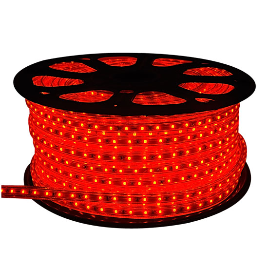 Red LED Rope Light  Outdoor Event Lighting  Building