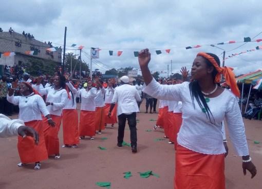 La ville de Danané aux couleurs du 58ieme anniversaire d'indépendance de la Côte d'Ivoire, le 7 août 2018 LEDEBATIVOIRIEN.NET
