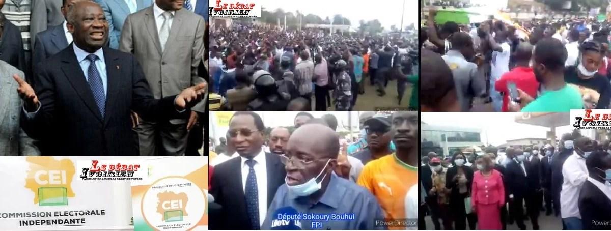 dépôt de candidature de Gbagbo à la CEI LEDEBATIVOIRIEN.NET