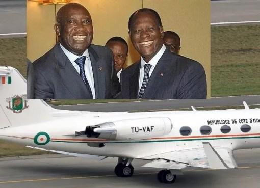 AVION de Ouattara pour le retour de Gbagbo en Côte d'Ivoire LEDEBATIVOIRIEN.NET