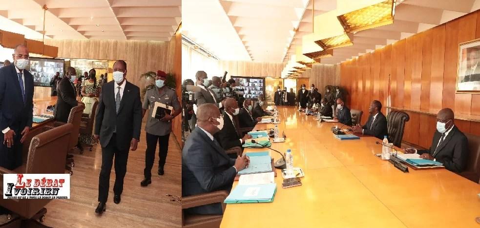 Au dernier Conseil des Ministres de l'année 2020 : Ouattara annonce la reprise son dialogue avec Bédié en janvier 2021 LEDEBATIVOIRIEN.NET