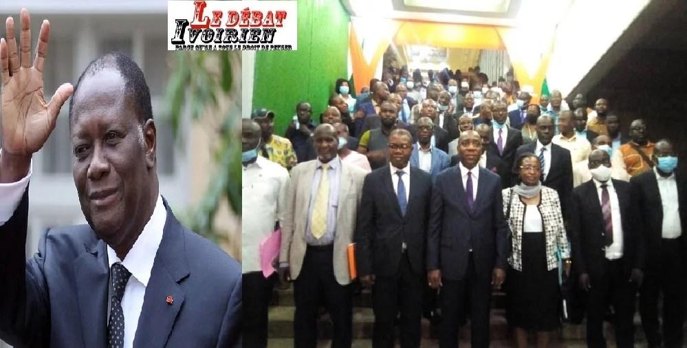 hommage a ouattara par les populations de la me ledebativoirien.net