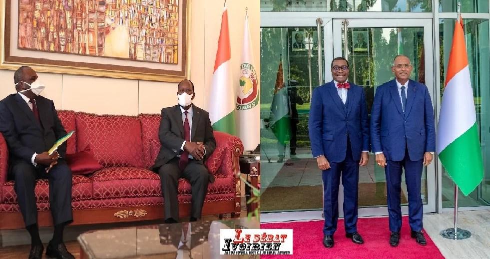 la BAD et Afreximbank rassurent Alassane Ouattara et Patrick Achi sur un soutien à l'économie ivoirienne LEDEBATIVOIRIEN.NET