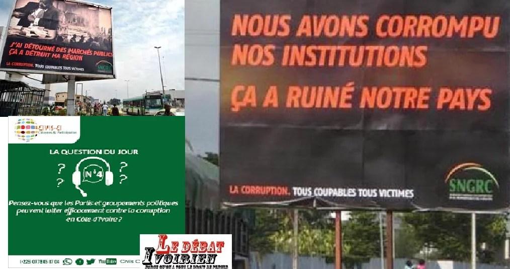 la Côte d'Ivoire lutte-t-elle efficacement contre la corruption et les crimes qui en découlent ? CIVIS Côte inquiet LEDEBATIVOIRIEN.NET