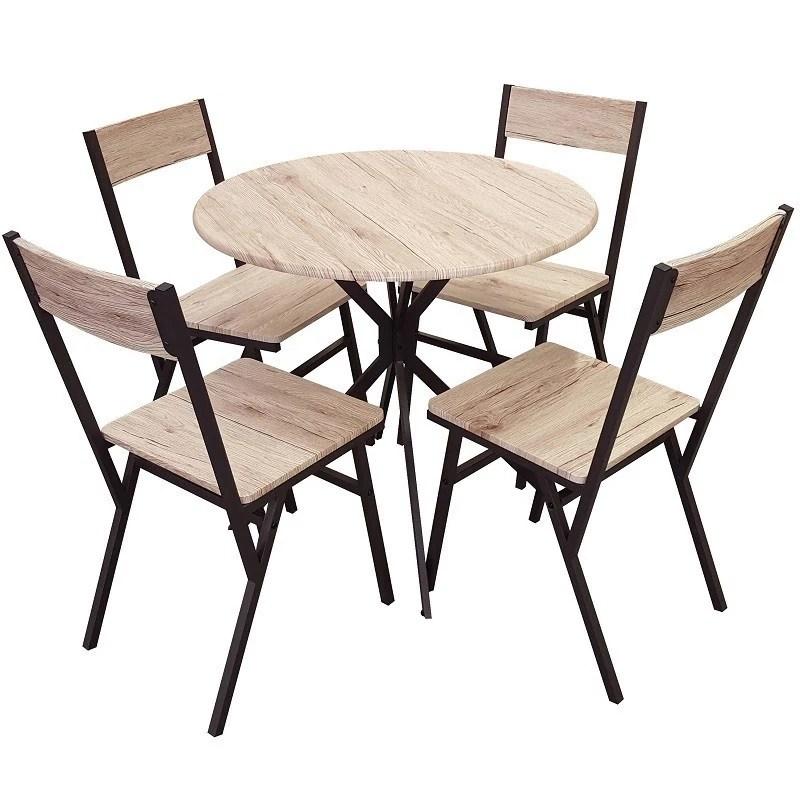 table et 4 chaises bois ensemble dock