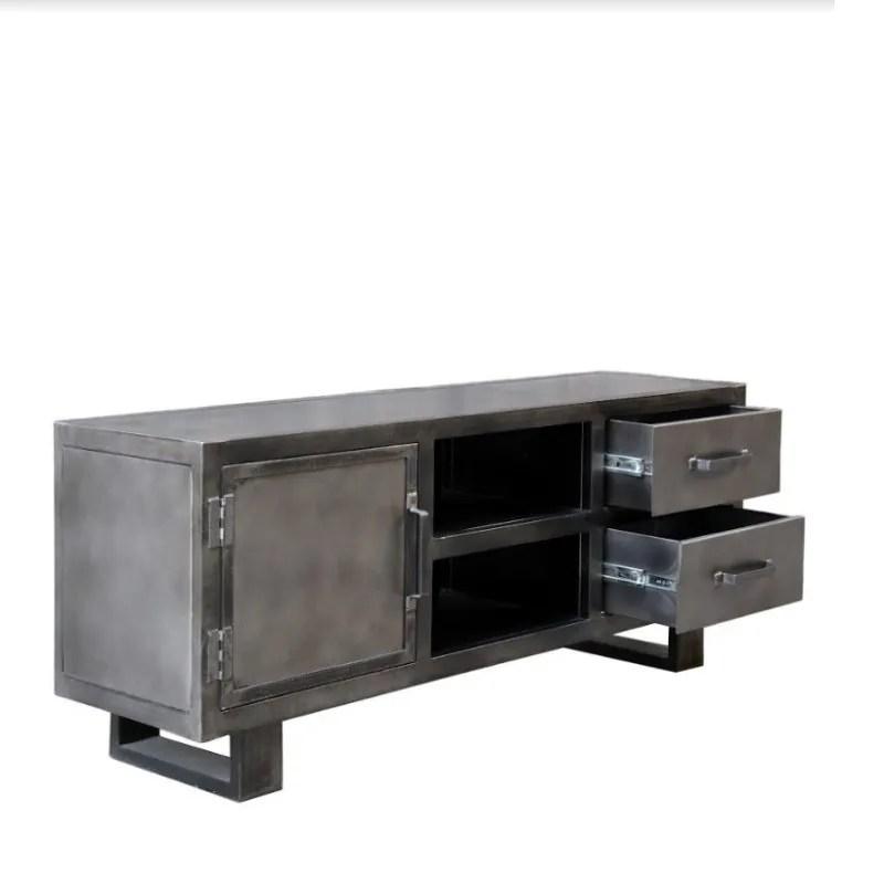 meuble tv metal noir jodhpur 150 cm