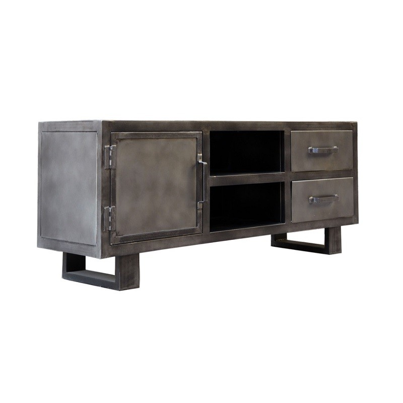 meuble tv metal et bois jodhpur 150 cm