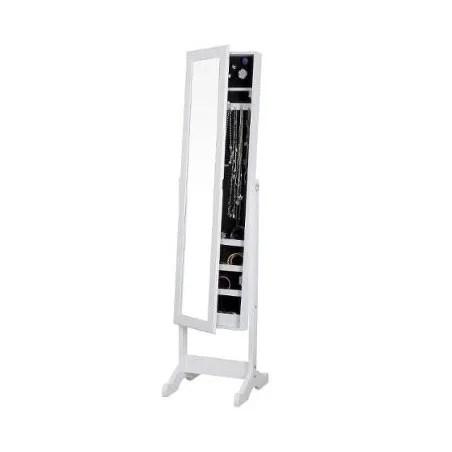 miroir armoire a bijoux 145cm blanc atmosphera