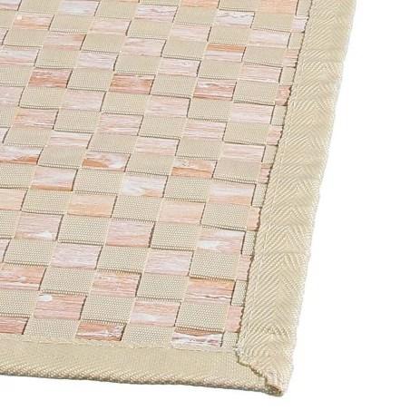 tapis bambou damier clair