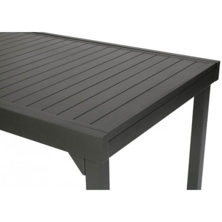 table rectangulaire extensible piazza 12 personnes graphite hesperide