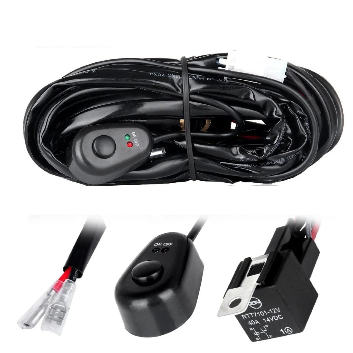 hight resolution of off road led light bar wiring harness kit 2 connectors