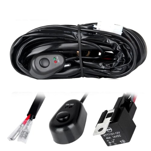 small resolution of off road led light bar wiring harness kit 2 connectors