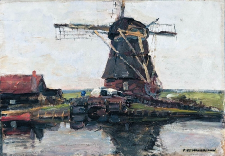 Moulin, du peintre néerlandais Piet Mondrian, une toile datant de 1905, a aussi été dérobée, ainsi qu'un Picasso et un dessin de Guglielmo Caccia.<br /><br />
