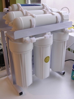 Image of a domestic 5-stage Reverse Osmosis Water purification system