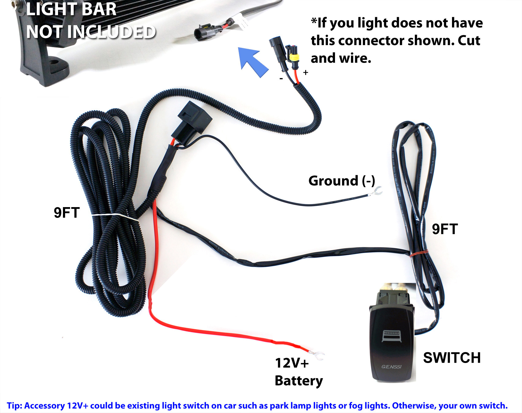 hight resolution of 40a fog work led light bar wiring harness relay fuse kit rocker rh ebay com mx7000 light bar wiring diagram mx7000 light bar wiring diagram