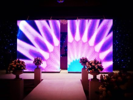 Aluminum Stage Platform LED Screen Opening Closing 2mmin Moving Speed