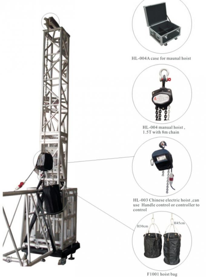 Heavy Duty Stage Truss Systems Electric Hoist Controls
