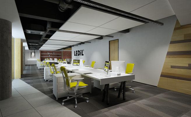 stylish yet functional led office lighting