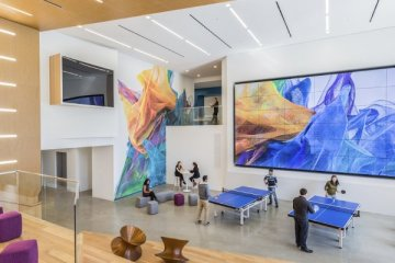 Espace communautaire du siège d'Adobe à San Jose, Californie