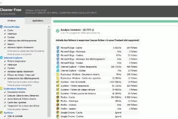 Copie d'écran de CCleaner, utilitaire de Avast
