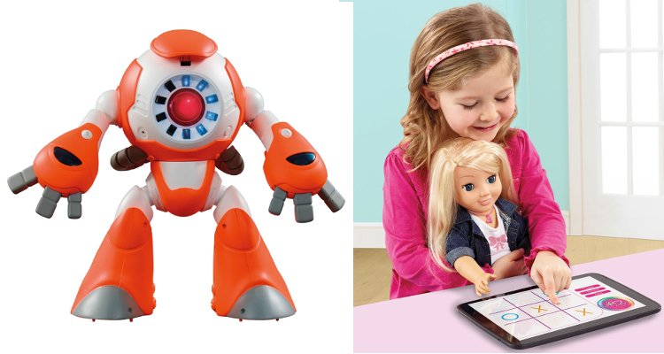 Robot connecté I-Que et poupée connectée 'My Friend Cayla' de Genesis Industries Limited