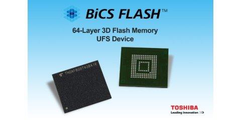 Stockage UFS 2.1 de Toshiba, exploitant la technologie de mémoire flash BICS 3D à 64 couches