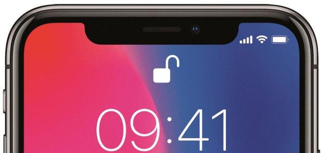 Écran avec découpe de l'iPhone X