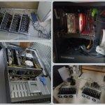 Exemples de matériels saisis à des cryptomineurs illégaux en Chine