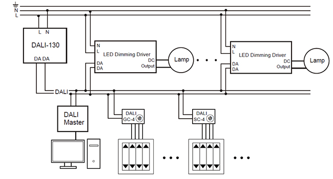 led dimmable wiring diagram schematic