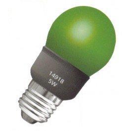 Energiesparlampe grün E27 5W