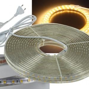 20m LED Stripe Band an einem Stück, dimmbar, warmweiss