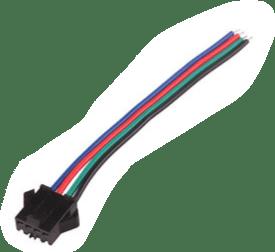 RGB Buchse / Kupplung mit 15cm RGB Kabel
