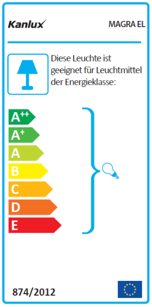 Energielabel Kanlux Magra Wandleuchte