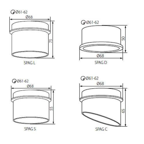 Technische Zeichnung Kanlux SPAG