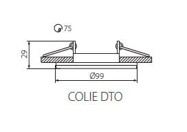 Technische Zeichnung Kanlux COLIE