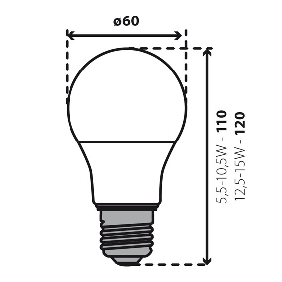Abmessungen 15W IQ LED