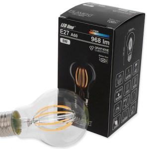 8W E27 LED Birne Filament 968 Lumen 2700 Kelvin