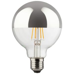 Dimmbare LED Globe G95 850 Lumen 2700K verspiegelt