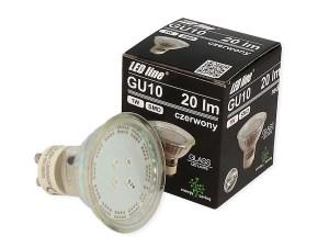LED Strahler rot GU10 230V