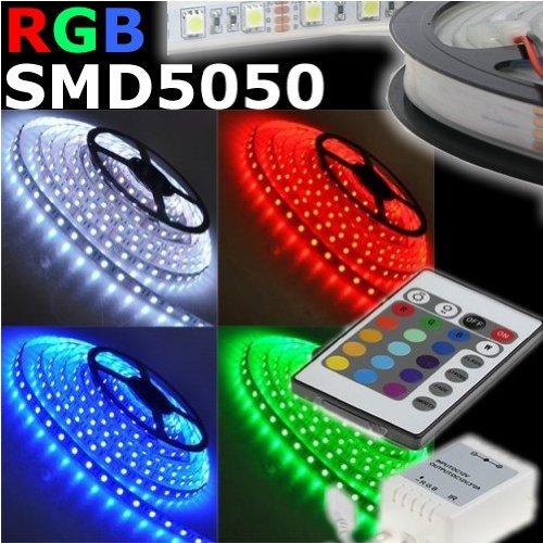 STRISCIA A LED SMD 5050 300LED 5 METRI STRIP RGB BOBINA