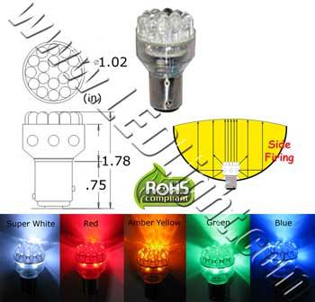 S25 24 LED Light 24 Volt DC  Automotive LED Lights  LEDLight